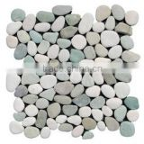 light green with white pebble stone mosaic , cultured stone mosaic                                                                         Quality Choice