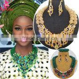 Wholesale alibaba Collar Necklace for bride/African Jewelry Sets for ladies/High Quality Big African Jewelry Sets