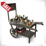 Wooden Retail Display Cart with Chalkboard contemporary bar cart                                                                         Quality Choice