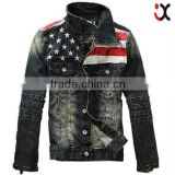 2015 most popular man cool motorcycle jacket wholsale jean jacket(JXW802)                                                                         Quality Choice