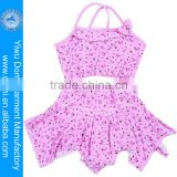 2014 fashion small flower & bowknot lovely little sexy two pieces junior girls swimwear,kids model girls in bikini with skirt