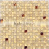 ice cracked mix metal glass mosaic Ice crack mosaic ice cracker mosaic decoration material