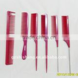 Plastic hot hair comb plastic pink tony and guy combs