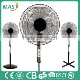 Brand china manufacturer stand Cooling Fan with power wind for Room use made in Zhongshan