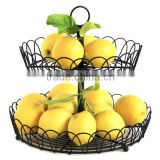 2-tier Metal Wire Basket fot Fruit and Accessories