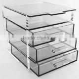 4-layer Clear acrylic drawers makeup acrylic organizer