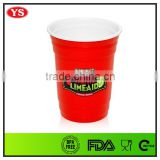 16 oz plastic double wall solo red cups