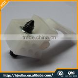 China Factory supply white plastic glass sliding door stopper connector