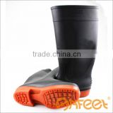 Wholesale rubber sole lightweight waterproof plastic boots and waterproof leather boots and women's waterproof boot (SA-9912)