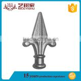 Decorative Powder Coated Wrought Iron Gate Ornaments Fence Spears/Temporary Picket Fence