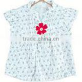 Girls t-shirts baby blouse floral ruffle sleeves short toddler girls fancy t-shirt lovely