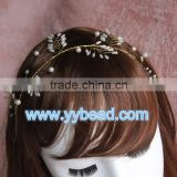 Women Flower Floral Pearl Bridal Decoration Plastic Flower Garland Party Bridal Headband Hair Band
