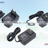 ac dc power adaptor white/ black (optional color) in wattages from 5W to 120W with CE UL CUL FCC KCC PSE CCC GS SAA approval