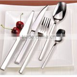 High quality heavy weight hand forged stainless steel flatware set for star hotel and restaurant