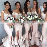 Wholesale Off the Shoulder Sequin New Cheap formal Mermaid Long Bridesmaid Dress CWFB2274