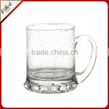550ML Handmade glass coffee mug glass drinking beer mug bubble glass mug stein with handle