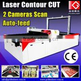 1600X1300 CCD Printed apparel Cutter / Sportswear Cutting Laser Plotter