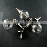20mm glass ball in antiqued silver plated brass vial pendant DIY glass dome bottle charm supplies 1830055