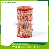 High quality natural jute ribbon burlap ribbon roll