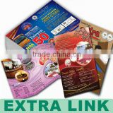 Made in China Factory Professional Cheap Colorful Folding Advertising A2/A3/A4/A5 Flyer Printing (14th-year printing experience)