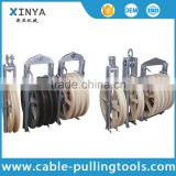 5 Bundled Cable / OPGW Conductor Pulley for Power Line Construction 800mm2 , Rubber Covered