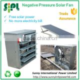 Wall mounted solar panel powered large industrial exhaust fan