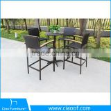 Guangdong Outdoor Furniture Plastic Wood Bar Table And Bar Chair