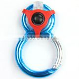 New products, led light mountaineering buckle,round aluminium hook
