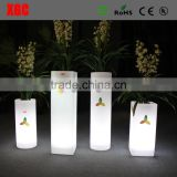 New modern colored round pillar led wedding pillar design