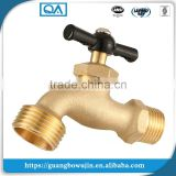 "Durable 1/2"" x 3/4"" Forged Nickel Plated Bathroom Outdoor Garden Hose Tap Brass Water Bibcock with Brass Handle"