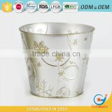 factory price iron and zinc homeware embossing best way to water plants in pots steel pots galvanized flower pot