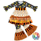 Pumpkin Ghost Candy Prints Newborn Baby Clothes Set Baby Clothing Gift Sets Wholesale Children's Halloween Boutique Clothing Set