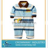 2012 striped baby's polo neck and embroidered romper