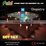 Cleopatra outdoor spa whirlpool spa with LED light TV