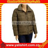 OEM high quality stylish solid color casual warm fitted padded women plus size winter coats