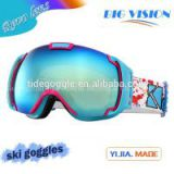 New product designer fashion ski goggles guangzhou factory made hot selling snow ski goggles