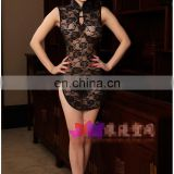 Attractive see through lace chirpaur cheongsam sexy lingerie