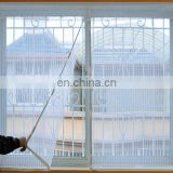 polyester Screen Netting Material and Door & Window Screens Type Stripe Door curtain decoration with Bird Button