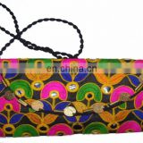 MEDIUM SIZE ETHNIC CLUTCH BAG WITH COIN