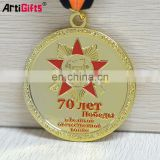 Gold plated souvenir metal custom medals no minimum order