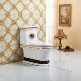 China sanitary ware brands toilet bowls golden colored​ one piece toilet wc