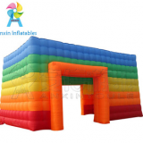 giant rainbow color rectangular inflatable tent for outdoor advertising events