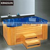 Wooden Square Big Size Adult Above Ground Swimming Pool