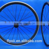 FLX-WS-CW023 Carbon Matt Cycling Road Bike Clincher Wheelset 700C 38mm Rim Alloy Brake Surface