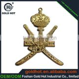 zinc alloy bronze color character projected name plate trademark label sticker for souvenir