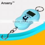 Logo Print Mini Electronic Digital Hanging Luggage Scale pocket Portable LCD Weight Weighing Scale