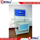 Multifunctional ESD Working Trolley with Bin Rail