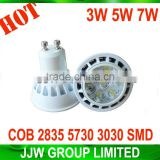 Hot selling gu10 led 2835 5050 5630 smd 2800k 3000k warm white 5W spot light gu10 5w for indoor lighting