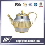 Set Of Side Handle Chromium plating and gold plating Stainless Steel Tea Kettle/Tea Pot(SF-7776 SSG)
