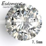 7.5mm Wholesale Esdomera White Color Moissanite Loose Stones Round Brilliant Cut Colorless